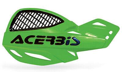ACERBIS UNIKO VENTED HANDGUARDS GREEN BLACK MOTOCROSS MX ENDURO CHEAP PAIR + KIT