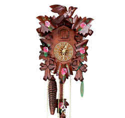 Hekas Black Forest Cuckoo Clock Roses Nip Black Forest Clocks Pendulum