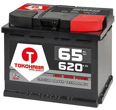 Autobatterie 65Ah 620A Starterbatterie Batterie ersetzt 55Ah 60Ah 61Ah 62A 64Ah