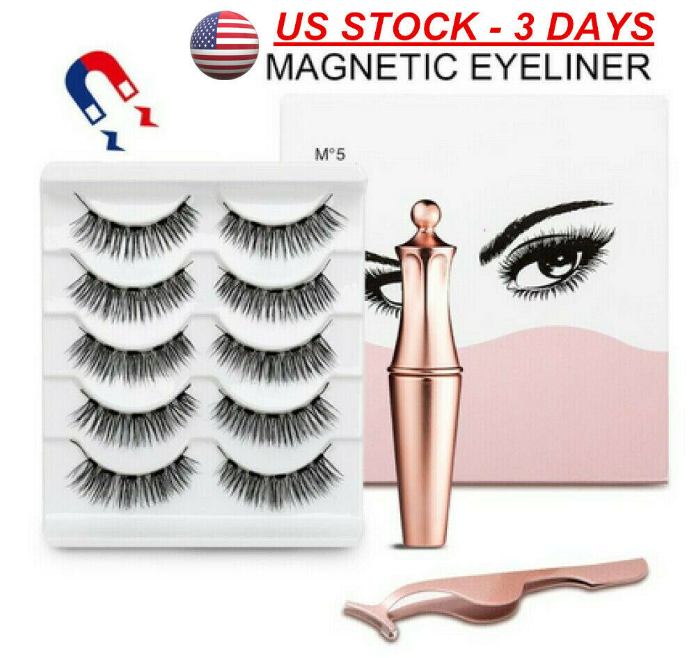 1/5 Pairs MAGNETIC Lash Eyeliner KIT Liner Eyelashes Liquid