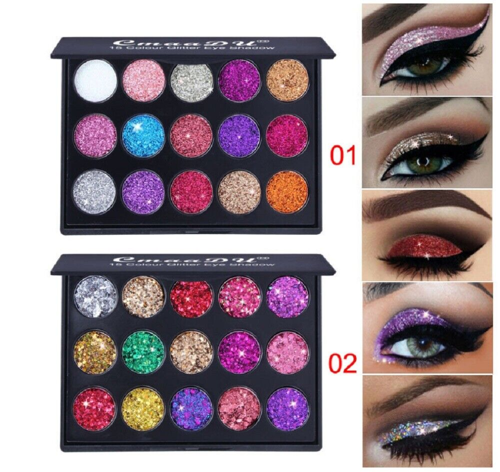 15Colors Matte Eyeshadow Makeup Kit Shimmer Glitter Eye Shadow Powder Palette US Eye Shadow
