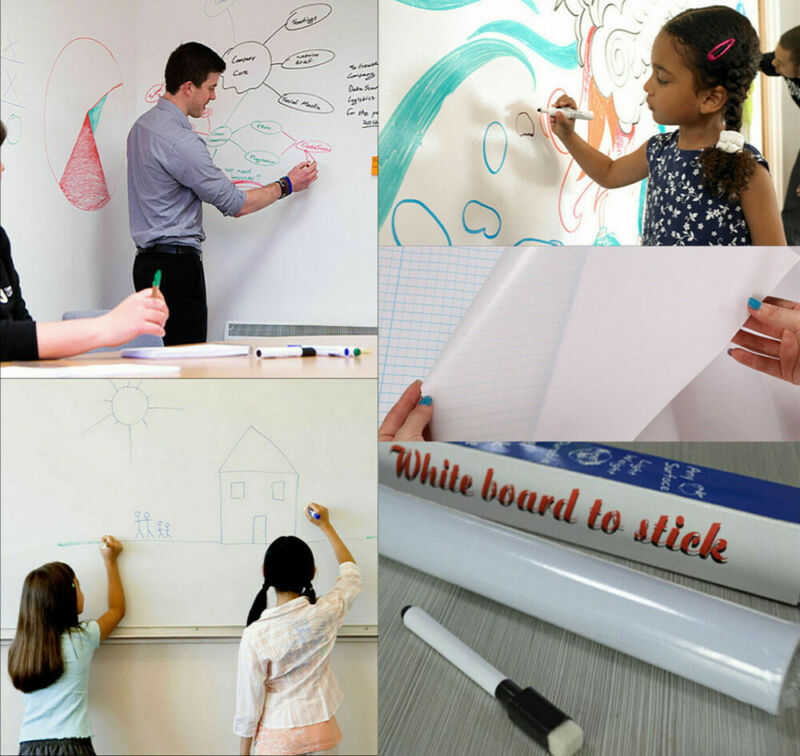 6.6FT Dry Erase Boards Whiteboard Wall Stickers Vinyl Chalkboard Contact Paper
