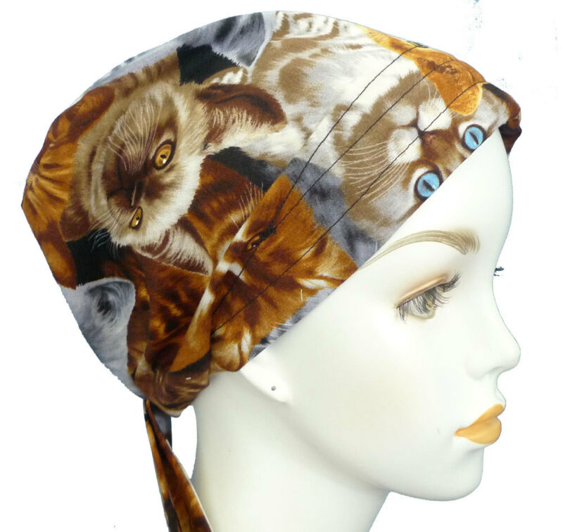 Regal Cat Kitten Chemo Cancer Hat Alopecia Hair Loss Bad Hair Day Scarfs Turban