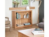 Low Small Bookcase Solid Oak