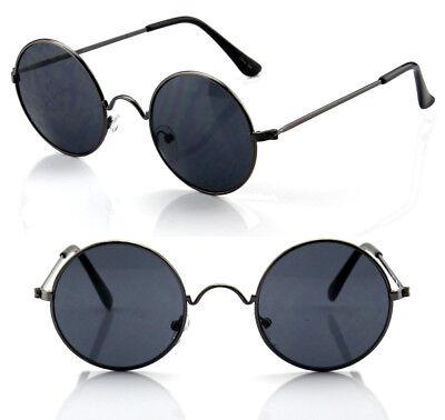 New Mens Womens Round Circle Sunglasses Shades John Lennon Retro Vintage (Retro Circle Sunglasses)