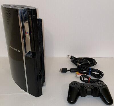 Sony PlayStation 3 PS3 CECHA01 Backwards Compatible 60GB Black Console Bundle