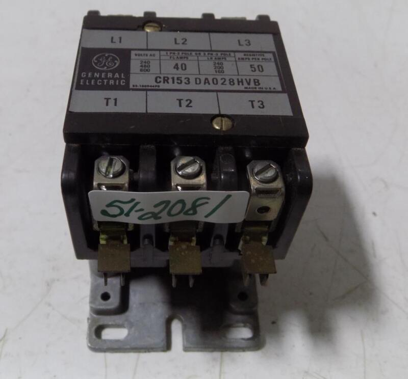 GENERAL ELECTRIC CONTACTOR CR153DA028HVB