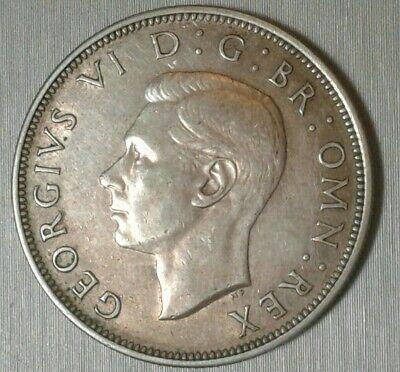 UK British 1946 Half Crown 1/2 .500 Silver King George VI