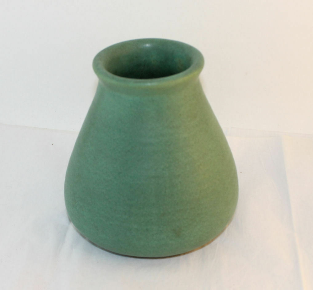 Antique Green Matte Teco Vase Number 367 Shape