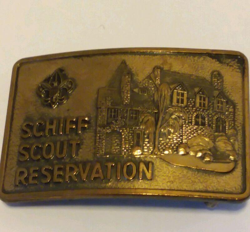 Rare Schiff Scout  Reservation Belt Buckle