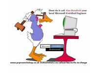 Microsoft Certified engineer 30 years experience all pc,laptop,server or network problems solved