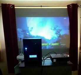 Mini HTPC + led projector