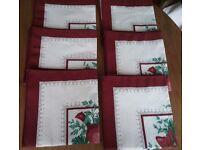 Set of 6 Christmas Napkins