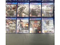 Various PS4 (PlayStation 4) games most are new and sealed