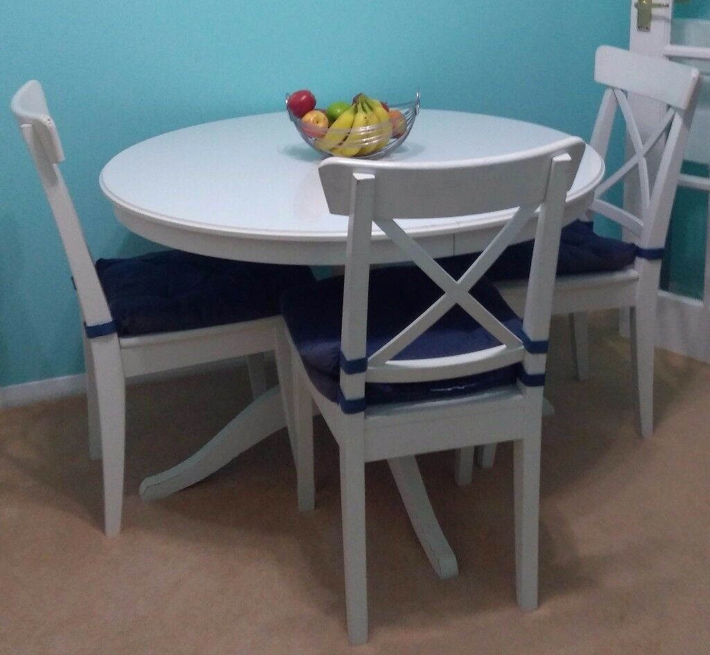 Dining Chairs For Sale Ikea: IKEA Extendable 6 Seater Dining Table With 6 Chairs