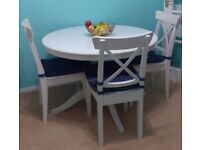 IKEA extendable 6 seater dining table with 6 chairs - for sale