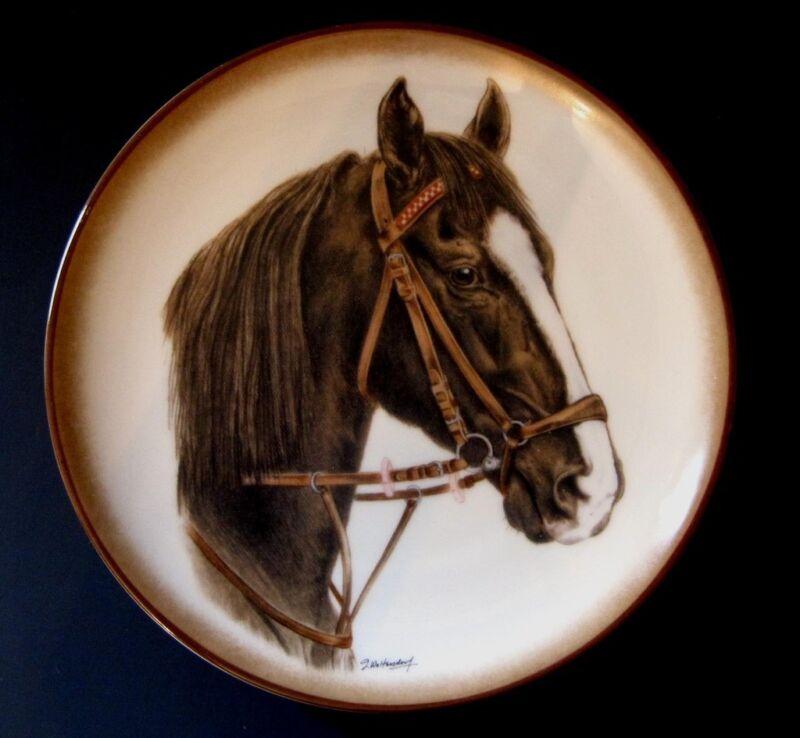 OLDENBURGER HORSE Plate Signed Woltersdorf Goebel West Germany Porzellanfabrik