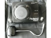 Roland KD-7 Electronic Bass Drum Trigger Pad With Beater