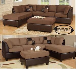 Sectional with Ottoman included for $769 + taxes. ---- Fast Delivery !