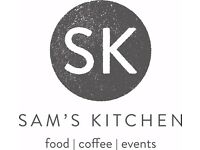 Sam's kitchen are on the hunt for exceptional servers for a NEW OPENING in Frome