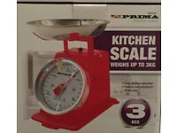 3KG Traditional Weighing Kitchen Scale-RED