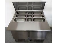 New Foodsville Saladette With Stainless Steel Work Extension And Pots - Get It Now PAY OVER 4 MONTHS
