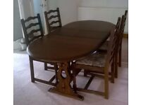 New Plan Extending Table & Chairs