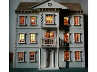 Beautiful fully furnished, decorated and electrics doll house