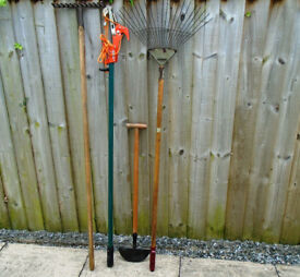 Garden Tools. 4 Different Used Garden Tools.