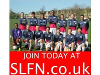 MIDFIELDER wanted for 11 aside football team, free football . Play in London