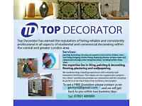 Top Decorator Service: Painting, Decoration, Handyman, lock fixing/changing,silicon, General Builder