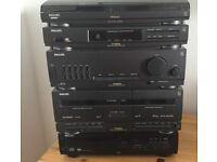 Phillips stacked hi fi including vinyl player