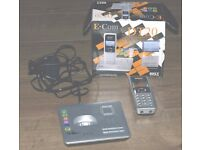 Ecom DT20 cordless phone with answering machine system