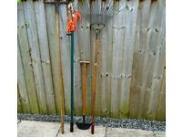 Garden Tools. 4 Different Used Garden Tools.