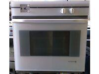 DeDietrich FW2327E21 Retro Fan Assisted Electric Single Oven In White