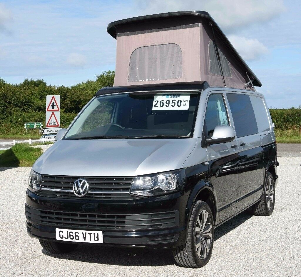 2016 66 reg volkswagen vw transporter t6 102ps pop top brand new conversion camper campervan. Black Bedroom Furniture Sets. Home Design Ideas