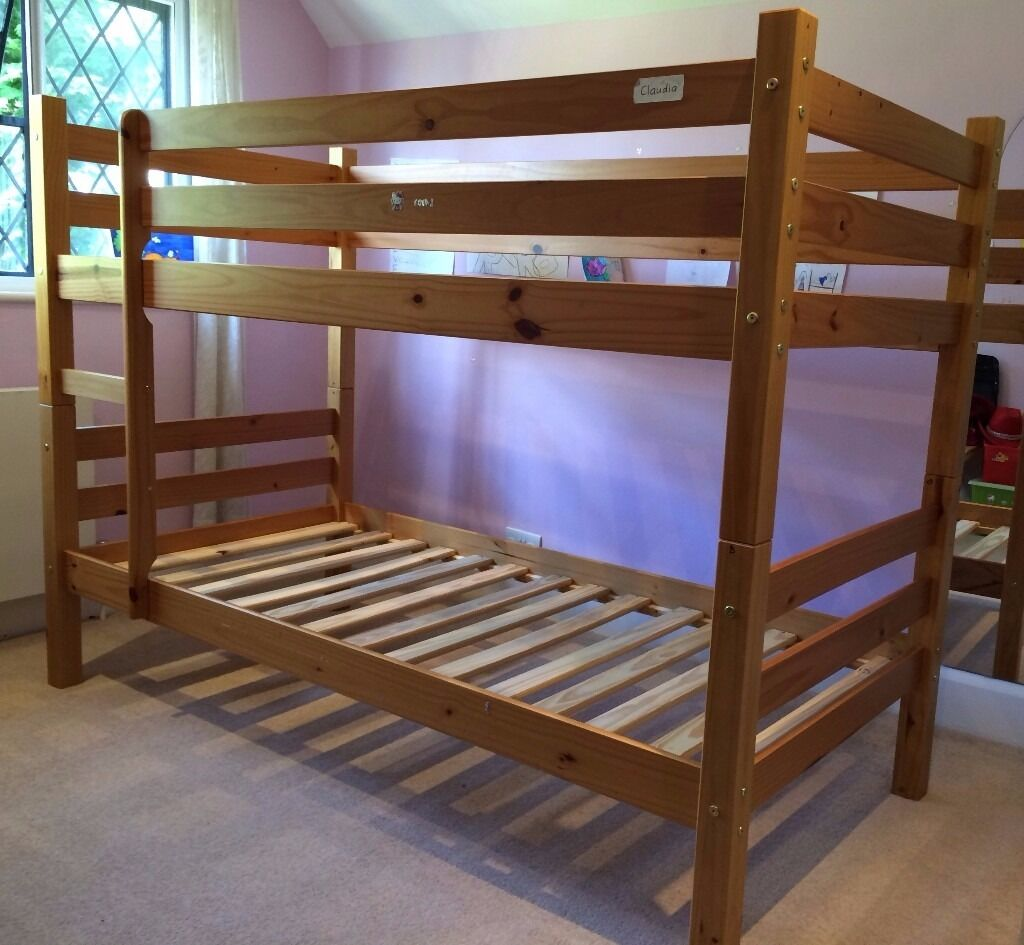 Children Bunk Bed Bensons For Beds Solid Wood Very
