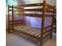 Children Bunk Bed (Bensons for Beds) - Solid Wood, Very Good Condition, 2 singles or bunk Bed