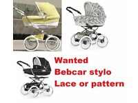 WANTED - Bebecar Stylo Prive Pram Pushchair in Lace or Pattern