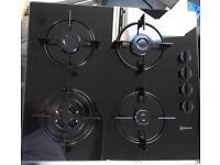 Brand New NEFF Black Glass Gas Hob