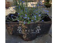 Antique victorian cisterns x 3 cast iron. Make very pretty planters