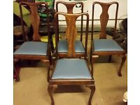 2 x Quinn Ann Wooden legs chairs