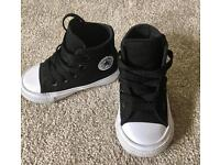 Almost brand new toddler converse in black - boy or girl