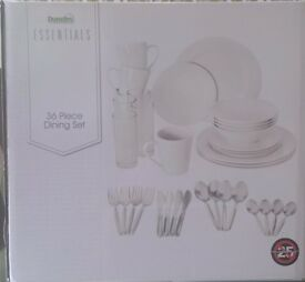 Dunelm Essentials, 36 Piece Dining Set Brand New Sealed Pack , Unwanted Present