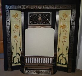 Original Tiled Fire Surround with Grate