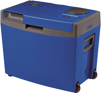 Waeco Mobicool G35 12 Volt Mains Thermo Electric Cool Box Fridge Cooler + Wheels