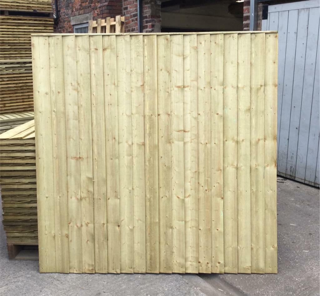 Straight top pressure treated heavy duty wooden garden fence straight top pressure treated heavy duty wooden garden fence panels baanklon Choice Image