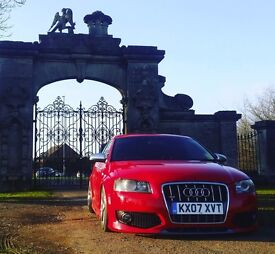 2007 Audi S3 on airlift air ride, red