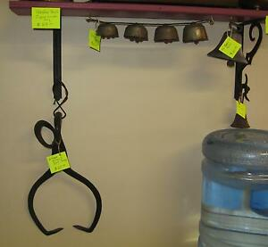 Ice Tongs, Brass Sleigh Bells & Iron Bell