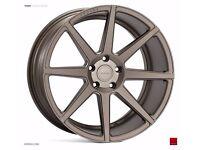 "19"" Staggered Ispiri ISR8 Matt Carbon Bronze for BMW F30 3 Series"